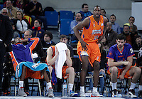 Valencia Basket Club's Larry Abia, Pau Ribas, Florent Pietrus and Bojan Dubljevic dejected after the Spanish Basketball King's Cup Final match.February 07,2013. (ALTERPHOTOS/Acero)