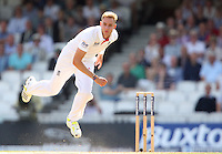Stuart Broad of England in bowling action - England vs Australia - 1st day of the 5th Investec Ashes Test match at The Kia Oval, London - 21/08/13 - MANDATORY CREDIT: Rob Newell/TGSPHOTO - Self billing applies where appropriate - 0845 094 6026 - contact@tgsphoto.co.uk - NO UNPAID USE