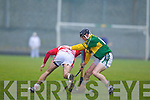 John Egan Kerry Hurlers v Brendan Weathers Cork Institute Technology in the Waterford Crystal Cup at Austin Stack Park, Tralee on Saturday 15th January.