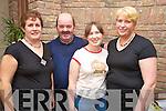 Breda O'Neill, Edmund Doran, Miriam Nagle and Marie Houlihan enjoying the Stepping it out set dancing club ceili in Darby O'Gills, Killarney, on Sunday.