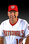 25 February 2007: Washington Nationals Third Base Coach Tim Tolman poses for his Photo Day portrait at Space Coast Stadium in Viera, Florida.<br /> <br /> Mandatory Photo Credit: Ed Wolfstein Photo<br /> <br /> Note: This image is available in a RAW (NEF) File Format - contact Photographer.