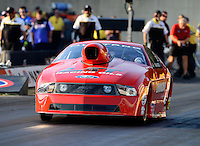 Oct. 5, 2012; Mohnton, PA, USA: NHRA pro stock driver Lewis Worden during qualifying for the Auto Plus Nationals at Maple Grove Raceway. Mandatory Credit: Mark J. Rebilas-