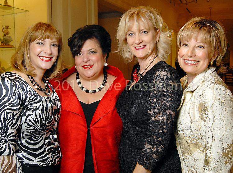From left: Honorees Sally Templeton, Gayla Bentley, Jane Carlton Hall and Mary Denney at the Night of Stars Gala honoring Houston's top fashion designers at the Junior League of Houston Tuesday Nov. 03,2009. (Dave Rossman/For the Chronicle)