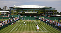 Wimbledon general view of court 10<br /> <br /> Photographer Rob Newell/CameraSport<br /> <br /> Wimbledon Lawn Tennis Championships - Day 3 - Wednesday 4th July 2018 -  All England Lawn Tennis and Croquet Club - Wimbledon - London - England<br /> <br /> World Copyright &not;&copy; 2017 CameraSport. All rights reserved. 43 Linden Ave. Countesthorpe. Leicester. England. LE8 5PG - Tel: +44 (0) 116 277 4147 - admin@camerasport.com - www.camerasport.com