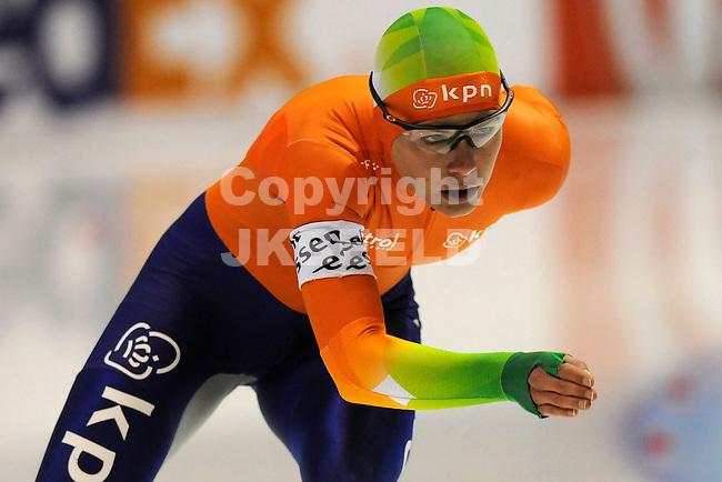 HEERENVEEN - Schaatsen, WK afstanden, Tialf stadion, 3000 meter vrouwen, seizoen 2011-2012, 22-3-2012 Diana Valkenburg