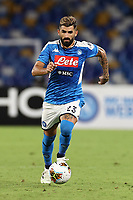Elseid Hysaj of SSC Napoli<br /> during the Serie A football match between SSC  Napoli and US Sassuolo at stadio San Paolo in Naples ( Italy ), July 25th, 2020. Play resumes behind closed doors following the outbreak of the coronavirus disease. <br /> Photo Cesare Purini / Insidefoto