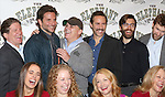 (1st row) Emma Thorne, Amanda Lea Mason, Patricia Clarkson, Kathryn Meisle (2nd row) Anthony Heald, Bradley Cooper, Scott Ellis, Alessandro Nivola, Chris Bannow, Lucas Calhoun attends the 'The Elephant Man' Broadway Cast photo call at Sardi's on October 21, 2014 in New York City.