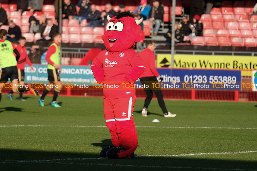The Crawley mascot during Crawley Town vs MK Dons, Sky Bet EFL League 2 Football at Broadfield Stadium on 3rd November 2018