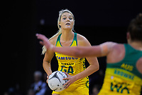 Gretel Tippett in action during the Constellation Cup Series international netball match between the New Zealand Silver Ferns and Samsung Australian Diamonds at TSB Bank Arena in Wellington, New Zealand on Thursday, 18 October 2018. Photo: Dave Lintott / lintottphoto.co.nz