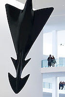 February 2, 2003; Munich, Germany; Interior architecture detail of the Pinakothek der Moderne modern art museum in Munich. Photo: © Ron Scheffler