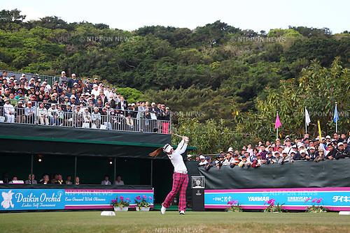 Chie Arimura (JPN), March 6, 2011 - Golf : Daikin Orchid Ladies Golf Tournament, Final Round at Ryukyu Golf Club, Okinawa, Japan. (Photo by Daiju Kitamura/AFLO SPORT) [1045]