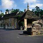 A01XE6 Market cross square Castle Combe Wiltshire England