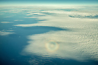 Circular Rainbow over Atlantic ocean.