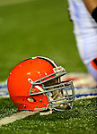 17 November 2008:  A Cleveland Browns helmet lies on the turf prior to a game against the Buffalo Bills at Ralph Wilson Stadium in Orchard Park, NY. The Browns defeated the Bills 29-27 in the Monday Night AFC matchup. *** Editorial Sales Only ****..Mandatory Photo Credit: Ed Wolfstein Photo