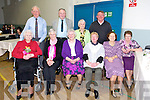 Mary Ellen Brosnsn, Margaret Murphy, Eileen McCrohan, Elizabeth Scanlon, Mary Martin, Byrnie Conway, Vera O'Sullivan,  Maureen Delacy, Michael O'Hanolan and Paddy Brosnan  enjoying thee Ardfert Community Centre Tea Dance on Sunday