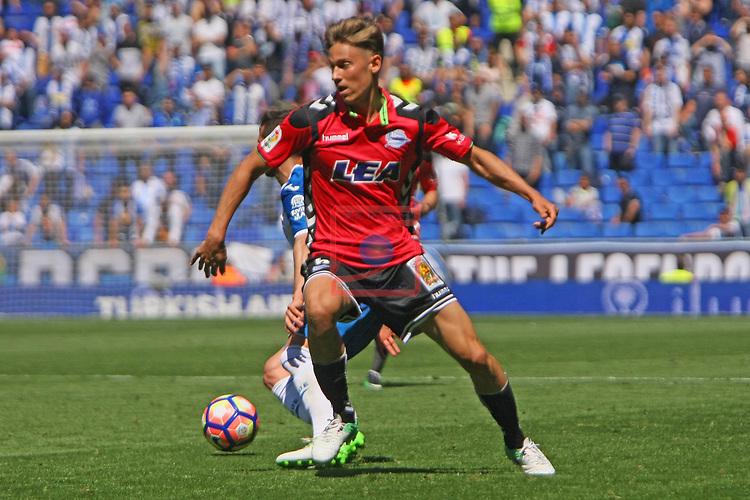League Santander 2016/2017. Game: 31.<br /> RCD Espanyol vs Deportivo Alaves: 1-0.<br /> Marcos Llorente.