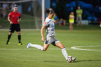 Kansas City, MO - Saturday July 22, 2017: Abby Erceg during a regular season National Women's Soccer League (NWSL) match between FC Kansas City and the North Carolina Courage at Children's Mercy Victory Field.