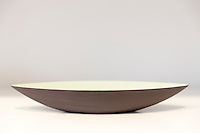 Minimallst ceramics by designer craftsman Ditte Fischer in stylish shop, Laederstraede in Copenhagen, Denmark - bowl