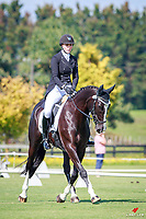 NZL-Lauren Alexander rides Classic Indigo during the Weatherbeeta CIC2* - Waiteko Trophy Championship Dressage. 2018 NZL-Kihikihi International Horse Trial. Friday 6 April. Copyright Photo: Libby Law Photography