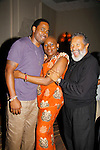 Lamman Rucker with his mom Nana Rucker & Count Stovall at The National Black Theatre Festival with a week of plays, workshops and much more with an opening night gala of dinner, awards presentation followed by Black Stars of the Great White Way followed by a celebrity reception. It is an International Celebration and Reunion of Spirit. (Photo by Sue Coflin/Max Photos)
