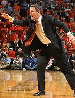 Jan. 8, 2011; Charlottesville, VA, USA;  Virginia Cavaliers head coach Tony Bennett reacts to a call during the game against the North Carolina Tar Heels at the John Paul Jones Arena. North Carolina won 62-56. Mandatory Credit: Andrew Shurtleff