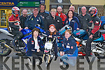 POKER RUN: Bikers who will be taking part in the poker run between Currow and Duagh on Saturday 4th August. Front row l-r: Betty Gaire, Duagh, Jessica Heffernan and Brenda Heffernan, Kilmorna. Back row l-r: Gerard OConnor, Currow, Jerry Brooke, Castleisland, Gerard OSullivan, Currow, Jim Casey, Brosna, Juliet McGlynn, Castleisland, Francis Gaire, Martina OConnor, Johnny Nash and Martin Sheehy, Duagh, and Steve Key, Currow..