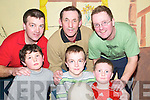 FUN: Enjoying the KES Lad's Night at the Ballybunion Community Centre on Thursday were front l-r: Luke Carolan, Brendan Kennelly and Tommy O'Neill. Back l-r: Mike Kennelly, Pat Carolan and Tom O'Neill (snr).   Copyright Kerry's Eye 2008