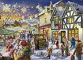 Marcello, CHRISTMAS LANDSCAPES, WEIHNACHTEN WINTERLANDSCHAFTEN, NAVIDAD PAISAJES DE INVIERNO, paintings+++++,ITMCXM1422,#XL#