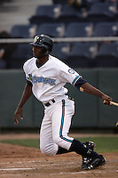 July 6 2009: Welington Dotel of the Everett AquaSox bats against the Yakima Bears at Everett Memorial Stadium in Everett,WA.  Photo by Larry Goren/Four Seam Images