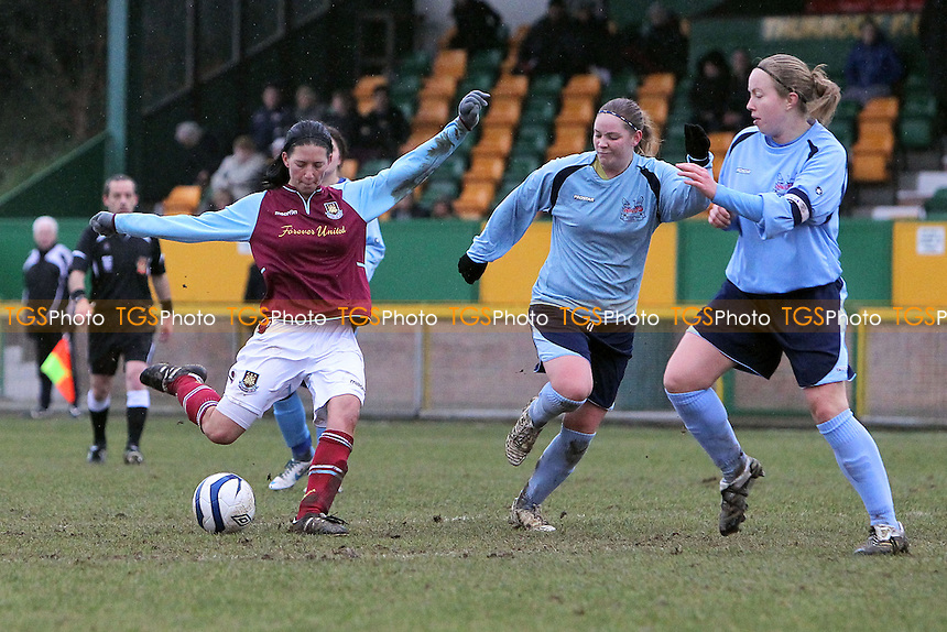 April Bowers scores the ninth goal for West Ham - West Ham United Ladies vs Witham Town Ladies - Essex FA Womens Cup Quarter-Final Football at Ship Lane, Thurrock FC - 10/02/13 - MANDATORY CREDIT: Gavin Ellis/TGSPHOTO - Self billing applies where appropriate - 0845 094 6026 - contact@tgsphoto.co.uk - NO UNPAID USE.