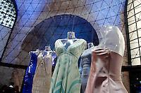 Enrico Coveri e Roberto Cavalli, Laura Biagiotti e Giorgio Armani<br /> Roma 03-04-2016 Terme di Diocleziano. Mostra 'In Acqua: H2O molecole di creativita'. Decine di stilisti hanno creato, per l'occasione, abiti, accessori e gioielli che richiamano l'acqua.<br /> Diocleziano Thermae. Exhibition 'In water: H2O molecules of creativity'.Tens of famous stylists created dresses, accessories and jewels that recall water.<br /> Photo Samantha Zucchi Insidefoto