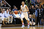 24 January 2015: North Carolina's Marcus Paige. The University of North Carolina Tar Heels played the Florida State University Seminoles in an NCAA Division I Men's basketball game at the Dean E. Smith Center in Chapel Hill, North Carolina. UNC won the game 78-74.