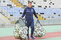 20190306 - LARNACA , CYPRUS : Italian assistant coach Attilio Sorbi pictured during a women's soccer game between Korea DPR and Italy , on Wednesday 6 March 2019 at the GSZ Stadium in Larnaca , Cyprus . This is final of  the Cyprus Womens Cup 2019 , a prestigious women soccer tournament as a preparation on the FIFA Women's World Cup 2019 in France . PHOTO SPORTPIX.BE | STIJN AUDOOREN