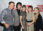 "Joe Tippett, Alex Wolff, Isabelle Fuhrman, Erica Schmidt, Abigail Breslin attend the Opening Night of The New Group World Premiere of ""All The Fine Boys"" at the The Green Fig Urban Eatery on March 1, 2017 in New York City."