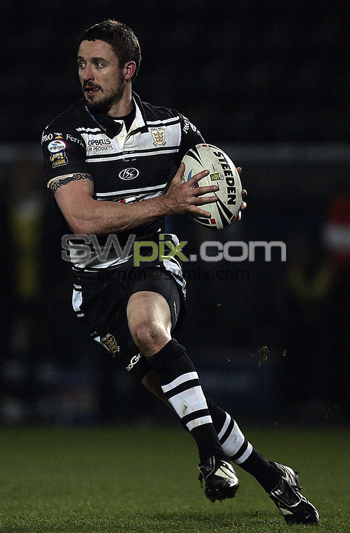 PICTURE BY VAUGHN RIDLEY/SWPIX.COM - Rugby League - Superleague - Hull FC v Wigan - KC Stadium, Hull, England  - 13/02/09...Copyright - Simon Wilkinson - 07811267706...Hull FC's Chris Thorman.