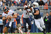 02 November 2013:  Penn State DE Austin Johnson (99) rushes the QB. The Penn State Nittany Lions defeated the Illinois Illini 24-17 in OT at Beaver Stadium in State College, PA.