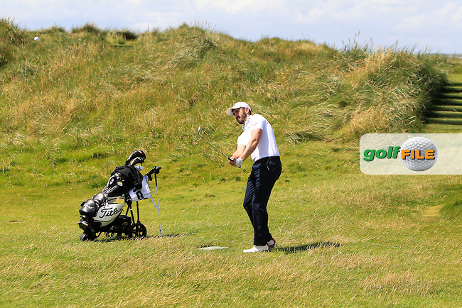 Mark Morrissey (Mount Wolseley) on the 3rd during Round 2 of the South of Ireland Amateur Open Championship at LaHinch Golf Club on Thursday 23rd July 2015.<br /> Picture:  Golffile | Thos Caffrey