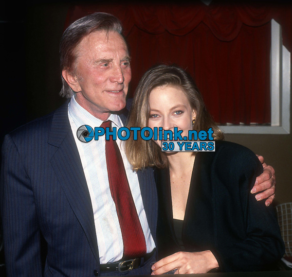 Kirk Douglas Jodie Foster 1982<br /> Photo By Adam Scull/PHOTOlink.net