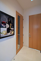Door leads to wine room