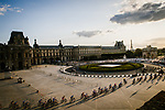 The peloton pass through the Louvre during Stage 21 of the 2019 Tour de France running 128km from Rambouillet to Paris Champs-Elysees, France. 28th July 2019.<br /> Picture: ASO/Pauline Ballet | Cyclefile<br /> All photos usage must carry mandatory copyright credit (© Cyclefile | ASO/Pauline Ballet)