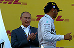 Vladimir Poutine (RUS), Russian President - Lewis Hamilton (GBR), Mercedes GP<br /> for the complete Middle East, Austria & Germany Media usage only!<br />  Foto © nph / Mathis
