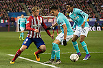 Atletico de Madrid's Fernando Torres and PSV Eindhoven's Hector Moreno (L) and Joshua Brenet during UEFA Champions League match. March 15,2016. (ALTERPHOTOS/Borja B.Hojas)