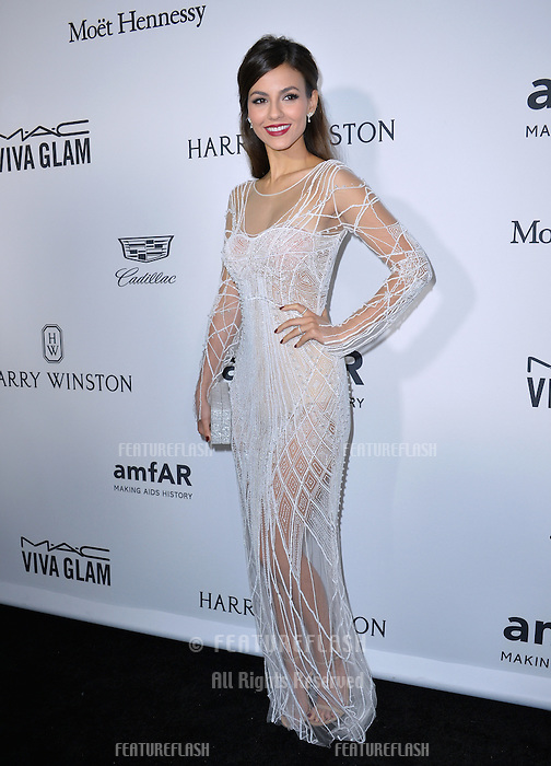 LOS ANGELES, CA. October 27, 2016: Victoria Justice at the 2016 amfAR Inspiration Gala at Milk Studios, Los Angeles.<br /> Picture: Paul Smith/Featureflash/SilverHub 0208 004 5359/ 07711 972644 Editors@silverhubmedia.com