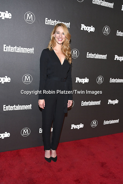 Yael Grobglas attends the Entertainment Weekly &amp; PEOPLE Magazine New York Upfronts Celebration on May 16, 2016 at Cedar Lake in New York, New York, USA.<br /> <br /> photo by Robin Platzer/Twin Images<br />  <br /> phone number 212-935-0770