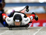 15 December 2006: Carla Pavan, from Canada, starts her run at the FIBT Women's World Cup Skeleton Competition at the Olympic Sports Complex on Mount Van Hoevenburg  in Lake Placid, New York, USA. &amp;#xA;&amp;#xA;Mandatory Photo credit: Ed Wolfstein Photo<br />