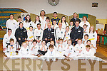 TAE-KWON-DO: A presentation of medals and plaques took place on Friday at a special ceremony at the Scouts Hall, Garveys Car Park, Tralee, to members of Tralee School of Tae-Kwon-Do by Supt Pat Sullivan assisted by Garda Sgt Pat Foley, Garda Dave Rath and Garda Patricia Fitzgerald. Accepting the awards were Adrian OMahoney, Mike Murphy, Wayne Murphy, Dave OMahony, Sarah Horgan, Laura Griffin, Margaret Griffin, Garry Kavanagh, Jimmy ORiordan, Cian Quirke, Sam Kavanagh, Sean Carroll, Sean Carmody, Ciaran Mangan, Aidan Mangan, Jack Quilter, Shane Nolan, Marcus Nolan, Caitlin OSullivan, Elaine OSullivan, Camelia Draghici, Simon Draghici, Joshua Maguire, Lorraine Murphy, Darragh McMahon, Damian Burke, Diane Carroll, Siadbh Carroll, DJ Hanifin, Alex OConnor and Aaron Dowey..