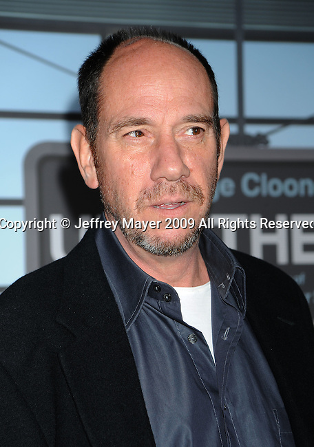 """WESTWOOD, CA. - November 30: Miguel Ferrer arrives at the """"Up In The Air"""" Los Angeles Premiere at Mann Village Theatre on November 30, 2009 in Westwood, California."""