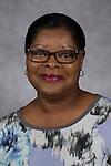 Brenda Yates, Custodian, Facility Operations, DePaul University, is pictured in a studio portrait Wednesday, March 01, 2017. (DePaul University/Jeff Carrion)