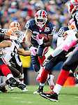 11 October 2009: Buffalo Bills' running back Marshawn Lynch (23) rushes for yardage against the Cleveland Browns at Ralph Wilson Stadium in Orchard Park, New York. The Browns defeated the Bills 6-3 for Cleveland's first win of the season...Mandatory Photo Credit: Ed Wolfstein Photo