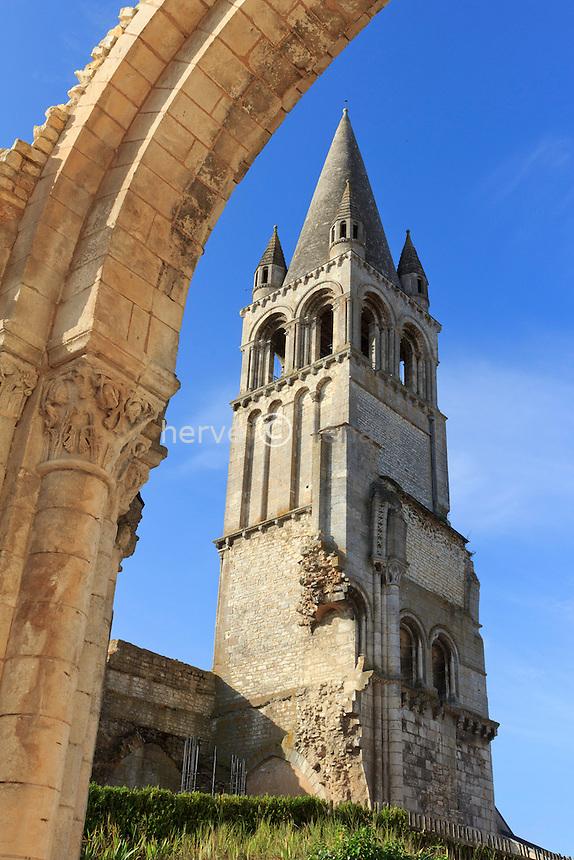 France, Indre (36), Déols, abbaye de Déols // France, Indre, Deols, Abbey of Deols